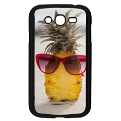 Pineapple With Sunglasses Samsung Galaxy Grand Duos I9082 Case (black) by VandDdesigns