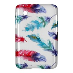 Watercolor Feather Background Samsung Galaxy Tab 2 (7 ) P3100 Hardshell Case  by LimeGreenFlamingo