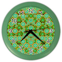 Flowers In Mind In Happy Soft Summer Time Color Wall Clocks by pepitasart