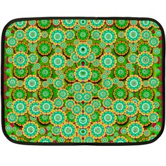 Flowers In Mind In Happy Soft Summer Time Double Sided Fleece Blanket (mini)  by pepitasart