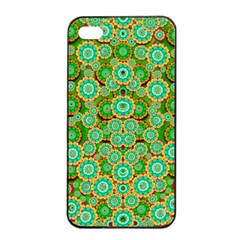 Flowers In Mind In Happy Soft Summer Time Apple Iphone 4/4s Seamless Case (black) by pepitasart
