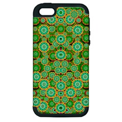 Flowers In Mind In Happy Soft Summer Time Apple Iphone 5 Hardshell Case (pc+silicone) by pepitasart