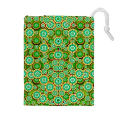 Flowers In Mind In Happy Soft Summer Time Drawstring Pouches (extra Large) by pepitasart