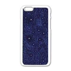 Awesome Allover Stars 01b Apple Iphone 6/6s White Enamel Case by MoreColorsinLife