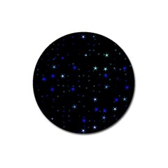 Awesome Allover Stars 02 Magnet 3  (round) by MoreColorsinLife