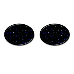 Awesome Allover Stars 02 Cufflinks (oval) by MoreColorsinLife