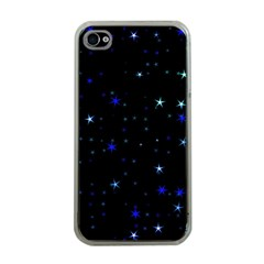 Awesome Allover Stars 02 Apple Iphone 4 Case (clear) by MoreColorsinLife