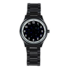Awesome Allover Stars 02 Stainless Steel Round Watch by MoreColorsinLife