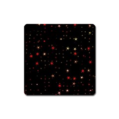 Awesome Allover Stars 02b Square Magnet by MoreColorsinLife