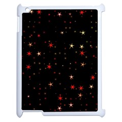 Awesome Allover Stars 02b Apple Ipad 2 Case (white) by MoreColorsinLife