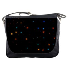 Awesome Allover Stars 02e Messenger Bags by MoreColorsinLife