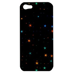 Awesome Allover Stars 02e Apple Iphone 5 Hardshell Case by MoreColorsinLife