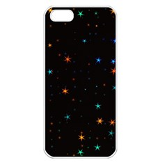 Awesome Allover Stars 02e Apple Iphone 5 Seamless Case (white) by MoreColorsinLife