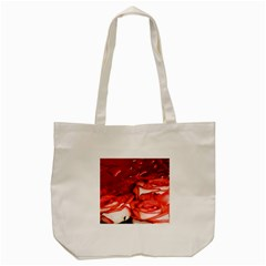 Nice Rose With Water Tote Bag (cream) by BangZart
