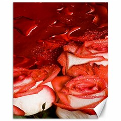 Nice Rose With Water Canvas 11  X 14   by BangZart