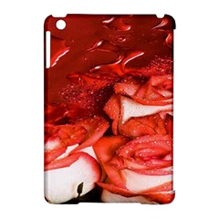 Nice Rose With Water Apple Ipad Mini Hardshell Case (compatible With Smart Cover) by BangZart