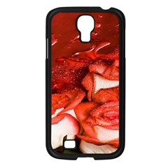 Nice Rose With Water Samsung Galaxy S4 I9500/ I9505 Case (black) by BangZart