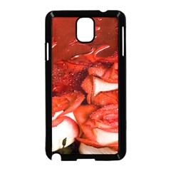 Nice Rose With Water Samsung Galaxy Note 3 Neo Hardshell Case (black) by BangZart