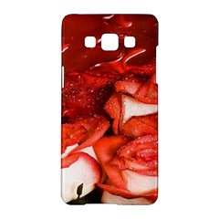 Nice Rose With Water Samsung Galaxy A5 Hardshell Case  by BangZart
