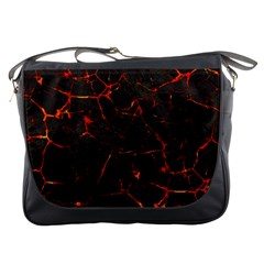 Volcanic Textures Messenger Bags by BangZart
