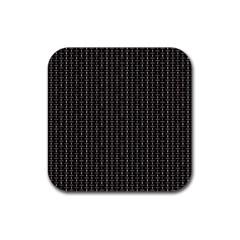 Dark Black Mesh Patterns Rubber Square Coaster (4 Pack)  by BangZart