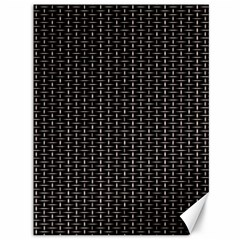 Dark Black Mesh Patterns Canvas 36  X 48   by BangZart