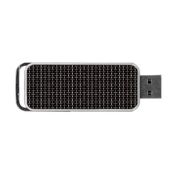 Dark Black Mesh Patterns Portable Usb Flash (two Sides) by BangZart