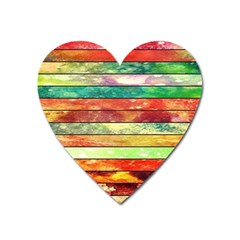Stripes Color Oil Heart Magnet by BangZart