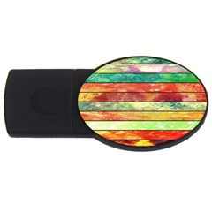 Stripes Color Oil Usb Flash Drive Oval (4 Gb) by BangZart