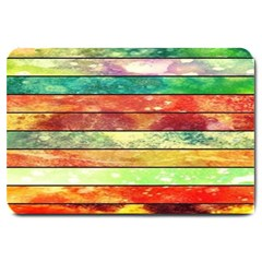 Stripes Color Oil Large Doormat  by BangZart