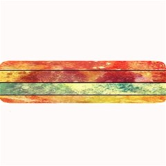 Stripes Color Oil Large Bar Mats by BangZart