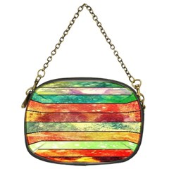 Stripes Color Oil Chain Purses (one Side)  by BangZart