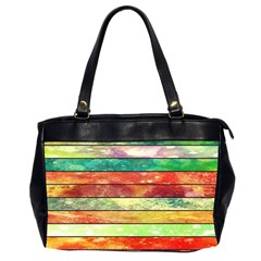 Stripes Color Oil Office Handbags (2 Sides)  by BangZart