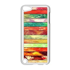 Stripes Color Oil Apple Ipod Touch 5 Case (white) by BangZart