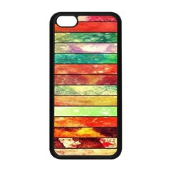 Stripes Color Oil Apple Iphone 5c Seamless Case (black) by BangZart