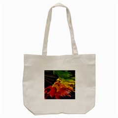 Green Yellow Red Maple Leaf Tote Bag (cream) by BangZart