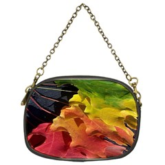 Green Yellow Red Maple Leaf Chain Purses (one Side)  by BangZart