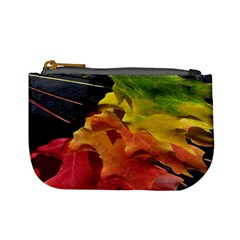 Green Yellow Red Maple Leaf Mini Coin Purses by BangZart