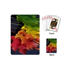Green Yellow Red Maple Leaf Playing Cards (mini)  by BangZart