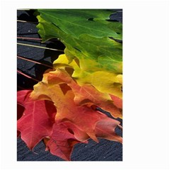 Green Yellow Red Maple Leaf Small Garden Flag (two Sides) by BangZart
