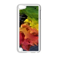 Green Yellow Red Maple Leaf Apple Ipod Touch 5 Case (white) by BangZart