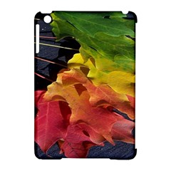 Green Yellow Red Maple Leaf Apple Ipad Mini Hardshell Case (compatible With Smart Cover) by BangZart