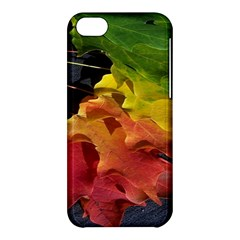 Green Yellow Red Maple Leaf Apple Iphone 5c Hardshell Case by BangZart