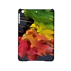 Green Yellow Red Maple Leaf Ipad Mini 2 Hardshell Cases by BangZart