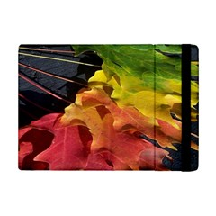 Green Yellow Red Maple Leaf Ipad Mini 2 Flip Cases by BangZart
