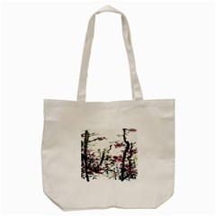 Pink Flower Ink Painting Art Tote Bag (cream) by BangZart