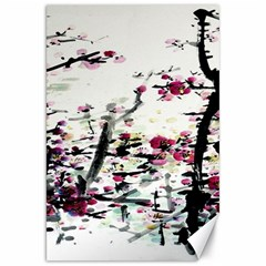 Pink Flower Ink Painting Art Canvas 20  X 30   by BangZart