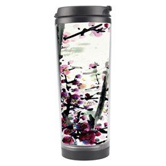 Pink Flower Ink Painting Art Travel Tumbler by BangZart