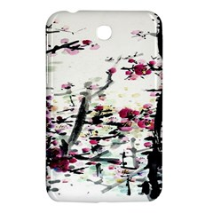 Pink Flower Ink Painting Art Samsung Galaxy Tab 3 (7 ) P3200 Hardshell Case  by BangZart