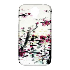 Pink Flower Ink Painting Art Samsung Galaxy S4 Classic Hardshell Case (pc+silicone) by BangZart